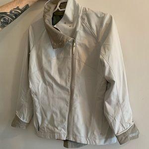 Arc'teryx white windbreaker jacket size small